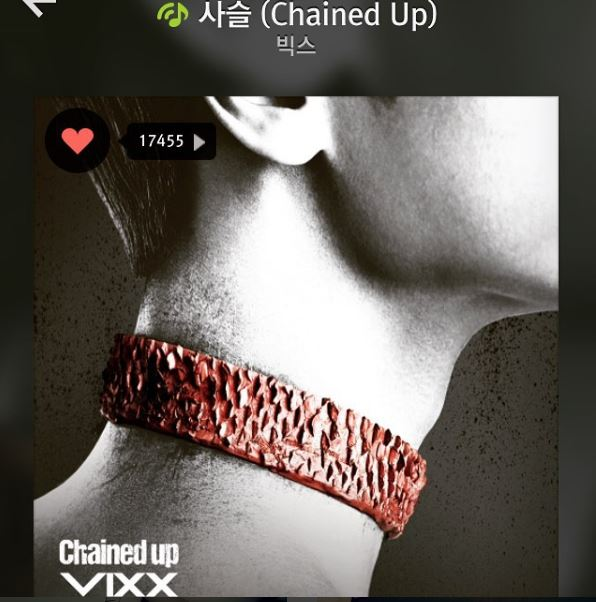 而且泫雅曾在VIXX打歌期上傳《Chained up》的音源照片,為VIXX打歌