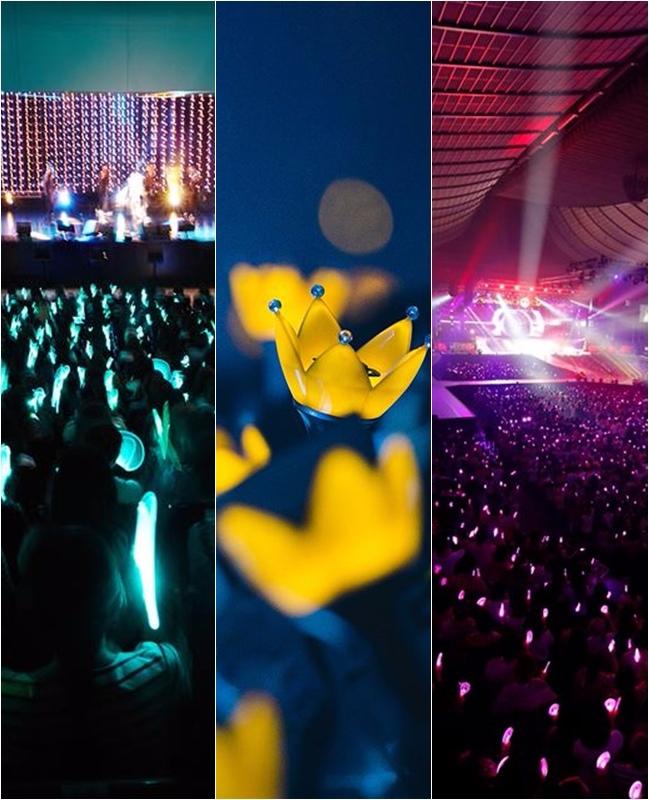 因為演唱會燈亮時不僅是最能讓歌迷感受到在場的人都是「一家人」的時刻,所以不只顏色很重要,這麼有象徵意義的應援手燈造型當然也是要好好慎選。