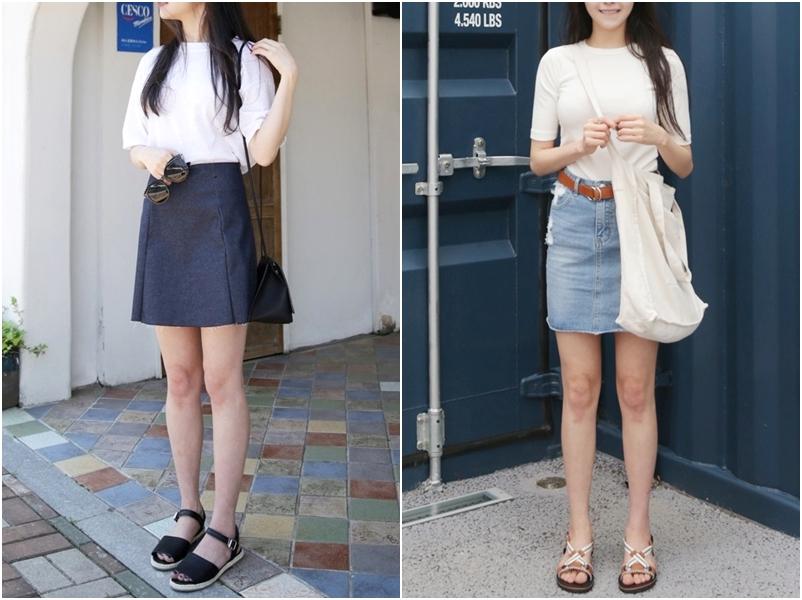 牛仔裙就是最適合學生的穿搭了