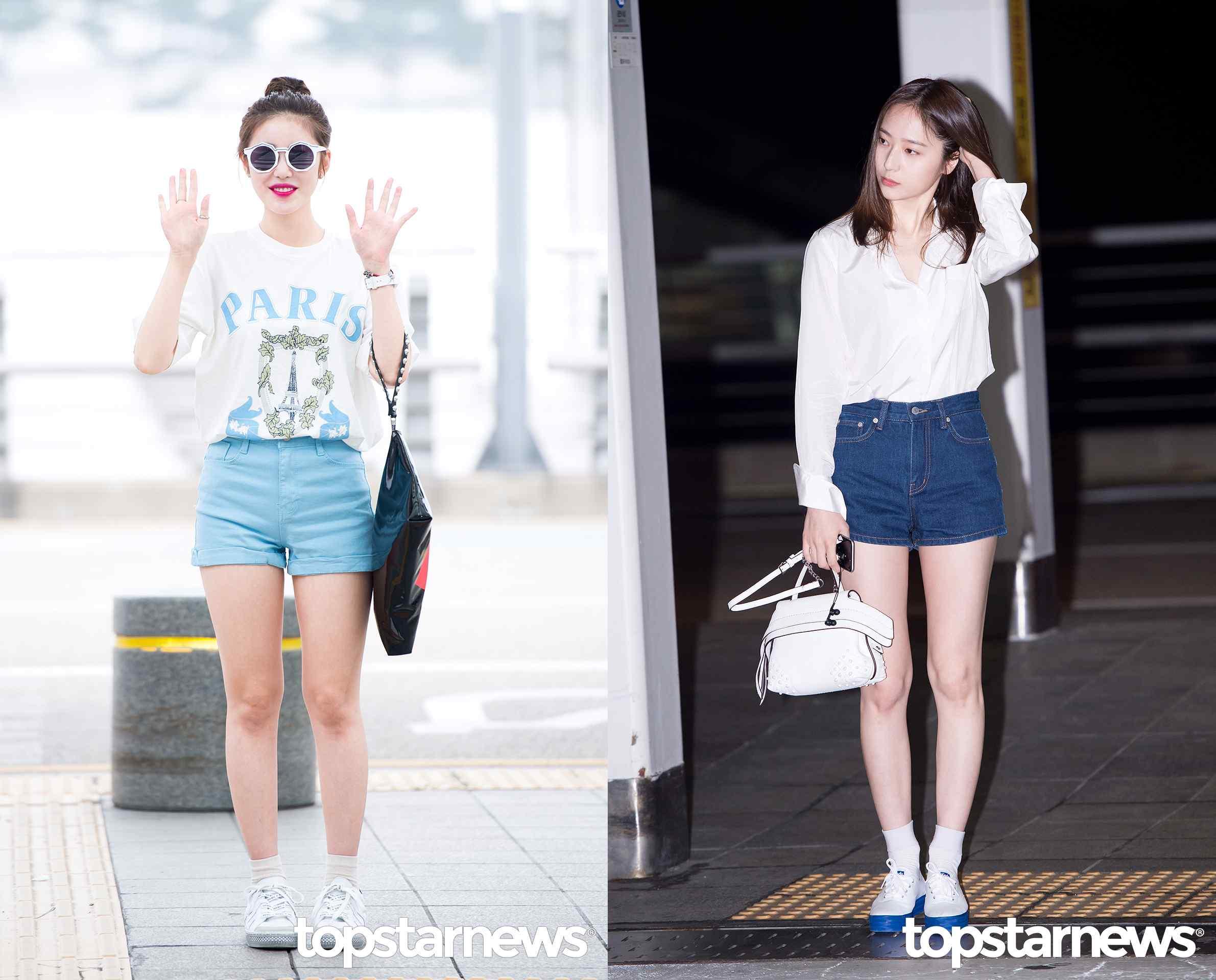 Style⑤高腰短褲 比起一般的短褲,韓國的高中生們更喜歡高腰短褲,因為可以把上衣塞進短褲里,修飾自己的身材比例,可以配寬T或者寬鬆的襯衫,而白襪X白球鞋也是必備搭配。