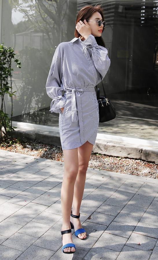 ✔一字帶鞋 想要女人味一點就像韓妞一樣選擇微高跟的一字帶鞋,拉長腿部比例看起來超美的