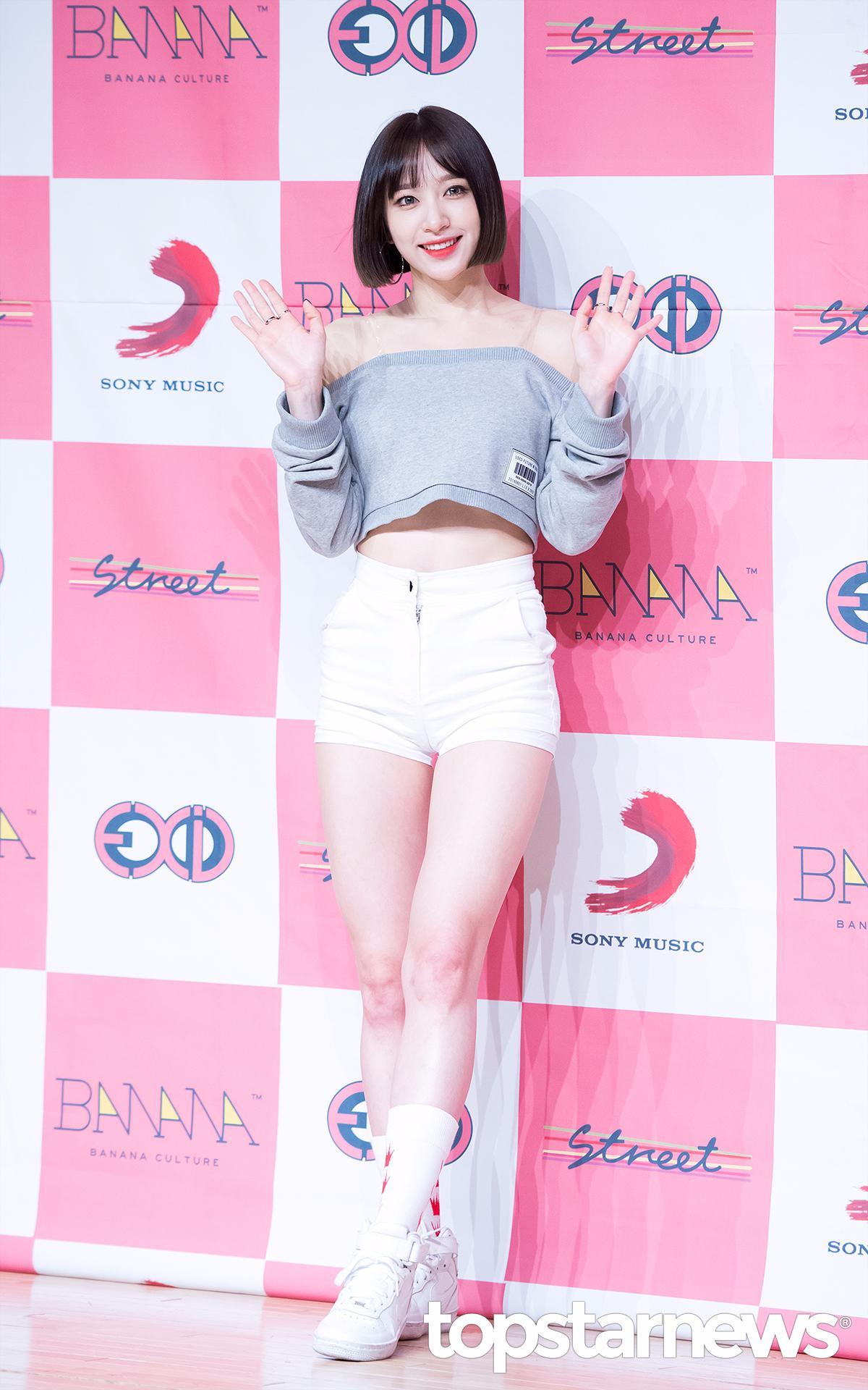 ◆EXID—哈妮 高腰熱褲讓哈妮的好身材一覽無遺...
