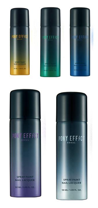 一共有5種顏色可選,黃、綠、藍、紫、銀。而且噴出來的效果都有一點金屬質感。
