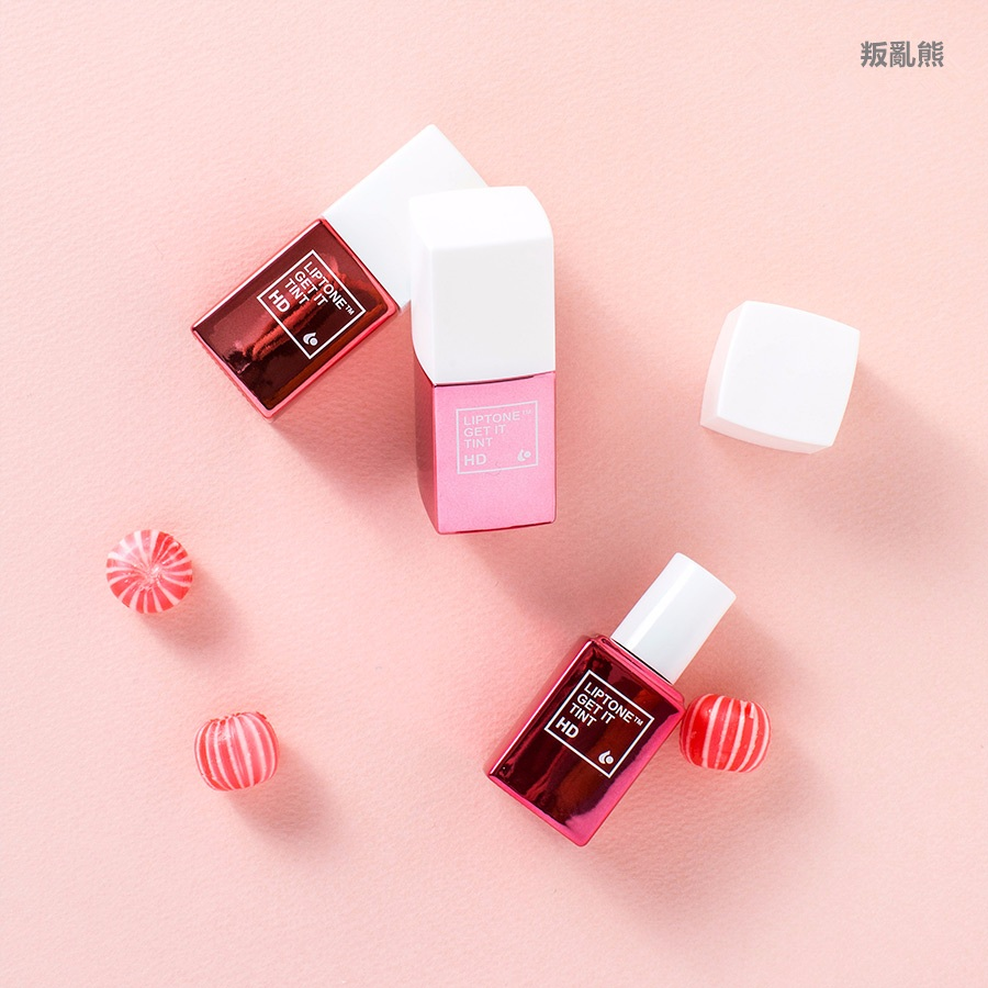 ▷ TONY MOLY / LIPTONE GET IT TINT HD #3 Peach Punch, #7 Red Chili, #8 Red Light  (KRW 10,800)