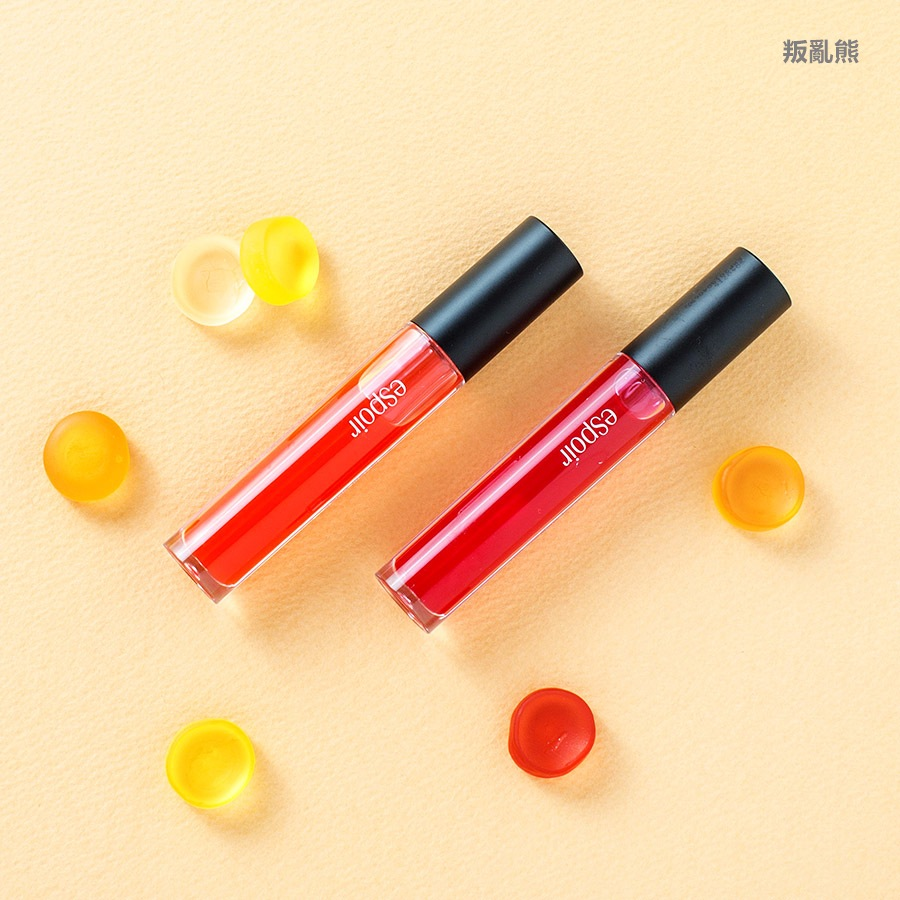 ▷ eSpoir / Water Gloss #OR401 Feel The Fever, #RD201 Cherry Pop (KRW 16,000)