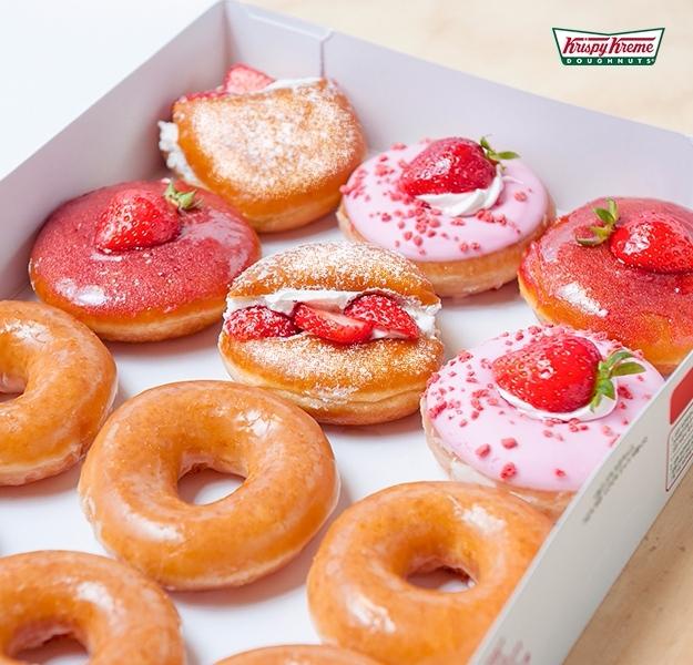 另外,韓國Krispy Kreme在3月推出的草莓季甜甜圈,也看起來超好吃的♡♡♡♡♡
