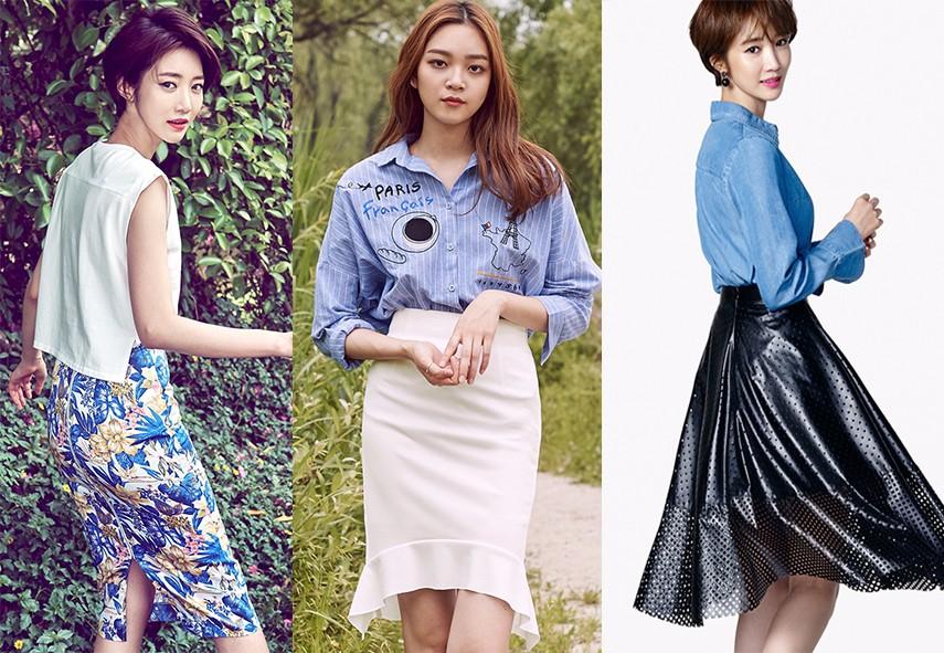 ◆西裝裙 西裝裙的價格跟襯衫差不多,比起一般西裝裙的單色和暗色系,這個牌子的西裝裙在顏色和選材上更大膽、更多樣。