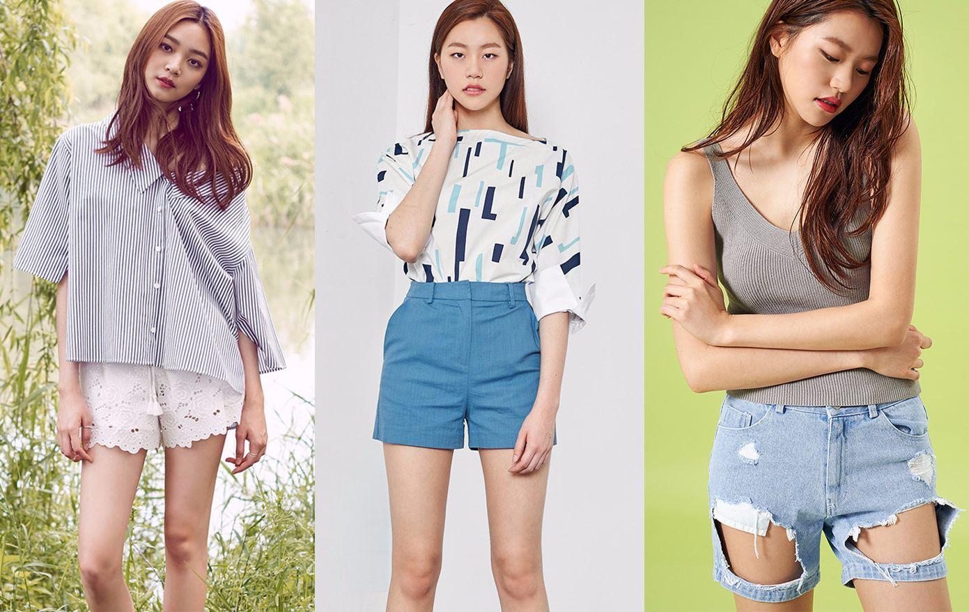 ◆短褲 甜美的淑女款、適合上班族的西裝款、個性的破洞丹寧款,適合每種風格的女孩。價格跟襯衣差不多。