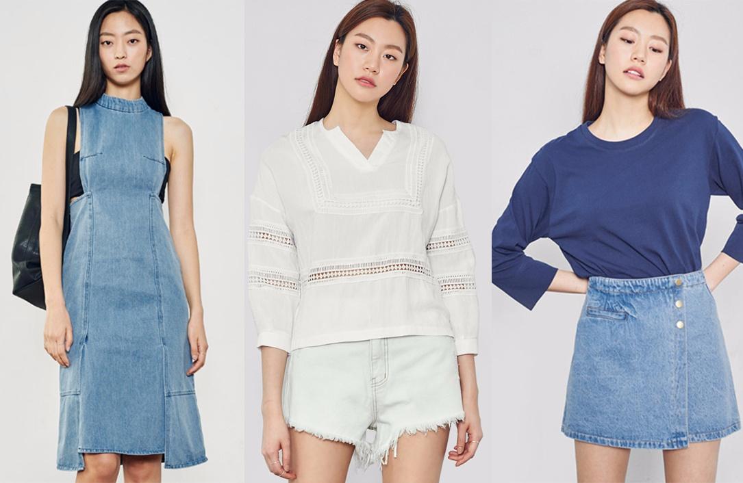 ◆丹寧單品 丹寧one piece、丹寧短褲、丹寧A字裙,丹寧褲子等,每一種的款式都很多樣。