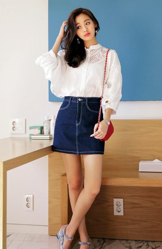 ★A字裙 最經典的款式也是最好搭配的單品 ! 可以輕鬆搭配上衣且任何鞋款都能穿搭~