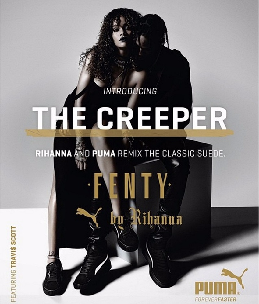 而設計師蕾哈娜本人,也是不吝於在雜誌上宣傳 自己當然也很常穿著Creeper到處晃