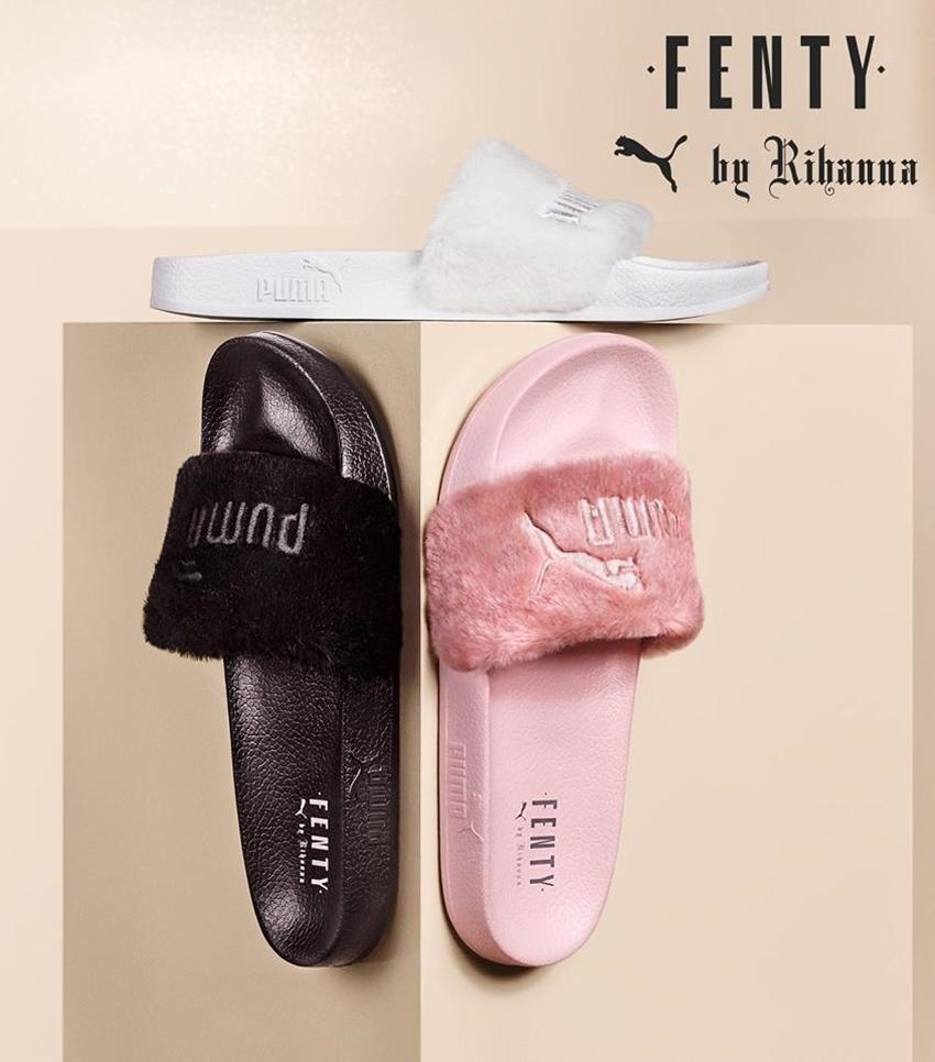 題外話,PUMA X FENTY其實也有出毛毛拖鞋耶,還是你們比較想要這個?