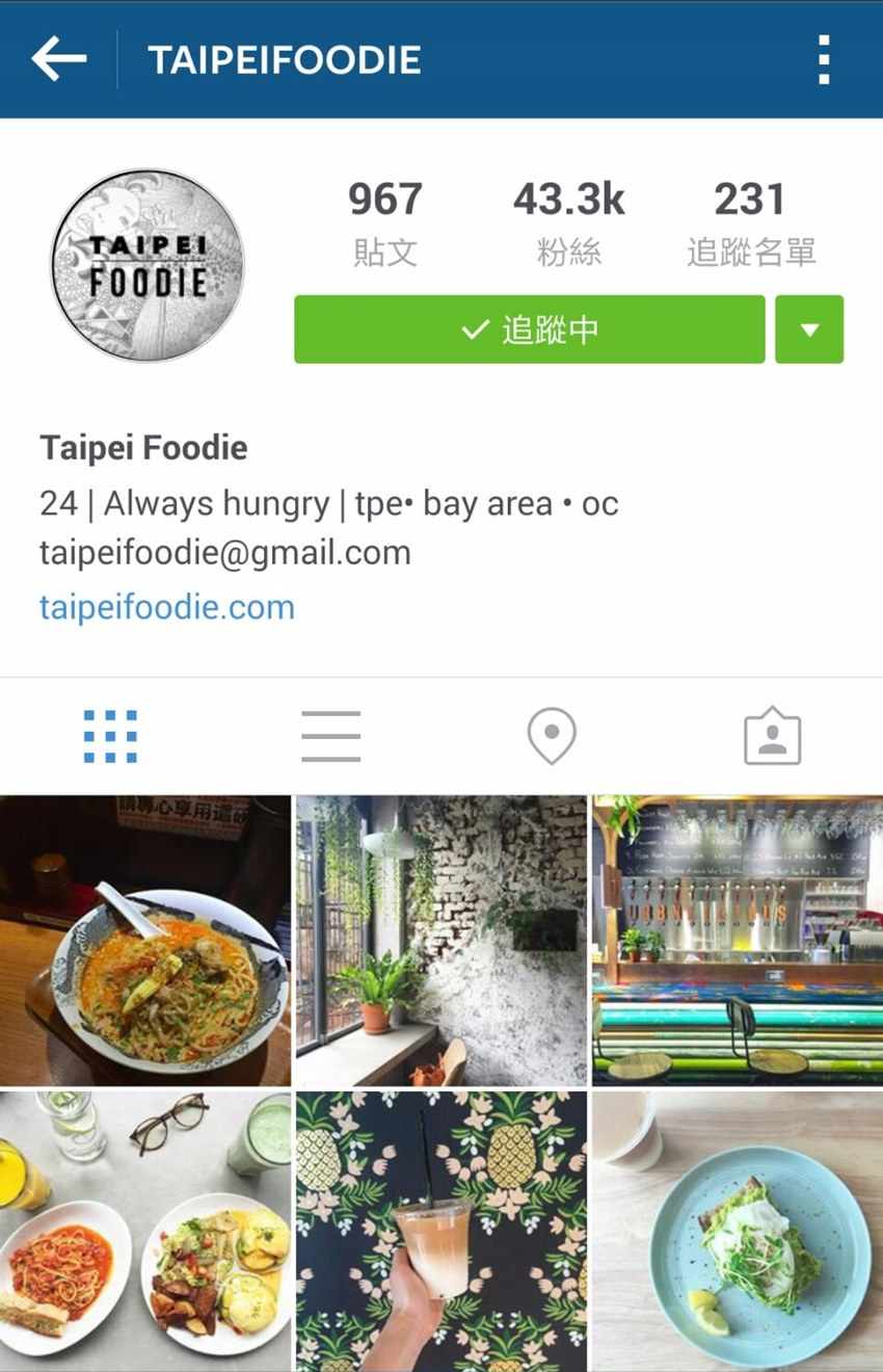 第二個是taipeifoodie,雖然都是英文介紹,但是也可以推薦給想來台灣的外國朋友! 他分別住過台北、舊金山、加州,範圍也是滿廣的