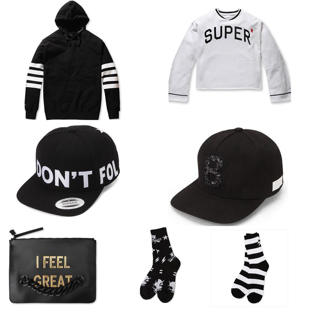 雖然是簡單的黑白色,但因為誇張的英文字母和格紋,加上獨特的剪裁,讓這個潮牌的衣服、帽子和包包也大熱起來。