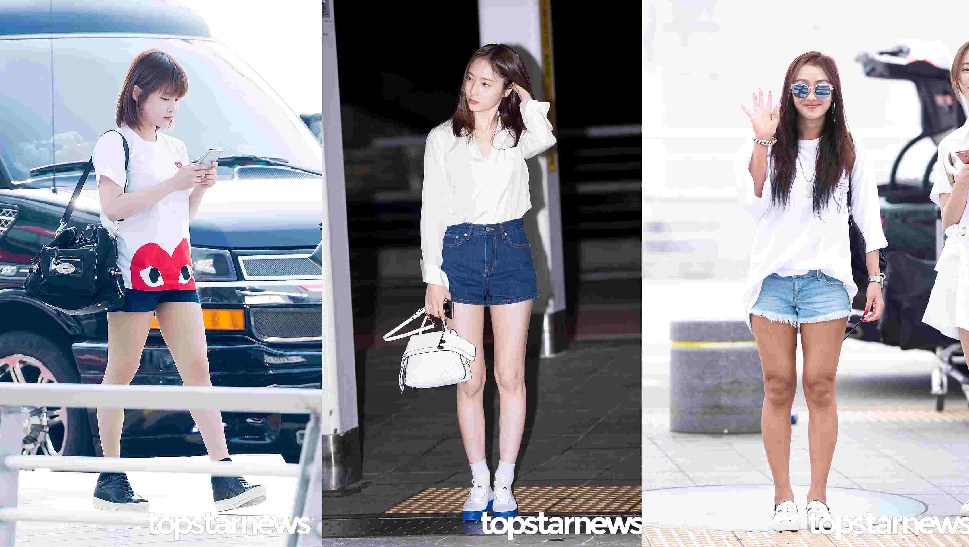 夏天就是要穿短褲啊!而且超百搭,除了配T-shirt,像Krystal一樣配襯衫也很不錯喔:-O