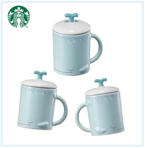♯海豚造型小馬克杯 上面蓋子超可愛的!