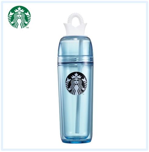 ♯Roxy藍色冷飲杯 上面是皇冠造型嗎~