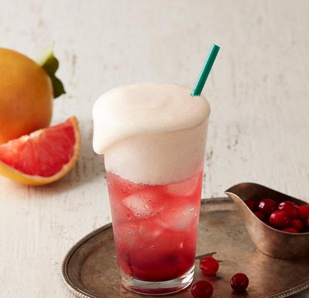 ♯蔓越莓Fizzio 蔓越莓口味Fizzio加上葡萄柚打成的泡沫看起來就好清涼呢