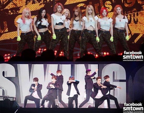 而這一年最精采的看點,莫過於SJ以神曲 sorry sorry (5週)和少女時代對上BIGBANG及2NE1的師兄妹對決大戲! 而唯一突破YG與SM家封鎖的,只有OST天后白智榮的《像中槍一樣》(5週)
