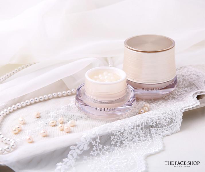 這款主打美白功效的精華霜裡蘊含的是高濃縮的珍珠精華,在維持珍珠精華新鮮度與高密度的前提下,採用獨家先進技術將其濃縮成7mm的顆顆珍珠狀。