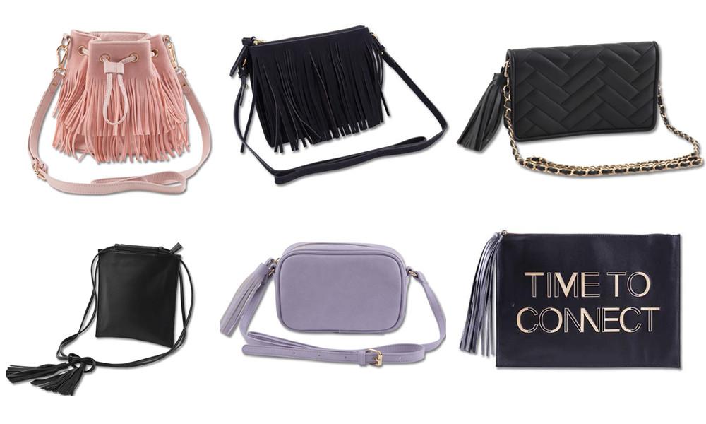 ◆流蘇包包 除了衣服,摩登少女還特別喜歡這個品牌的包包,除了經典百搭的黑色,還有適合夏天的粉色和薰衣草色,而該品牌包包最大的特點就是流蘇設計,復古而時尚。