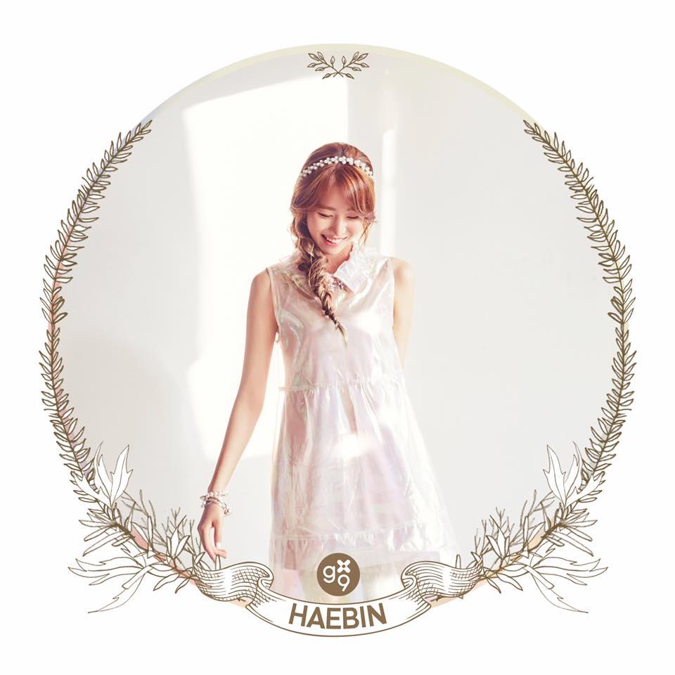 HAEBIN 雖然還沒有公開完整的正面臉,但是這個角度笑起來的樣子有點像AOA的珉娥耶