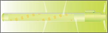 猜對了嗎?就是帶點黃綠色的混合色手燈!大家不要覺得這樣的手燈很單調,這可是 SM 娛樂的基本款呢,每個團體都會來一支這樣的設計XD