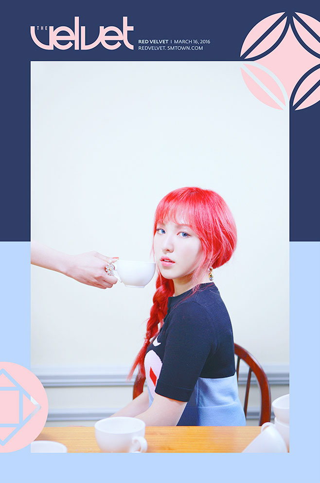 ♡ Red Velvet wendy  Red Velvet 在今年三月發行的第二張迷你專輯《The Velvet》,其中 wendy 的回歸概念照不管是配色還是構圖,真的都很有質感。