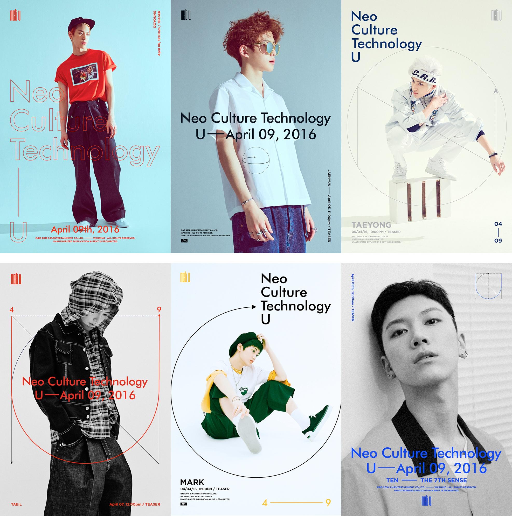 ♡ NCT U  SM 娛樂在今年推出的新概念男團 NCT,其中小分隊 NCT-U 的出道照充滿了設計感,非常有雜誌內頁的感覺。