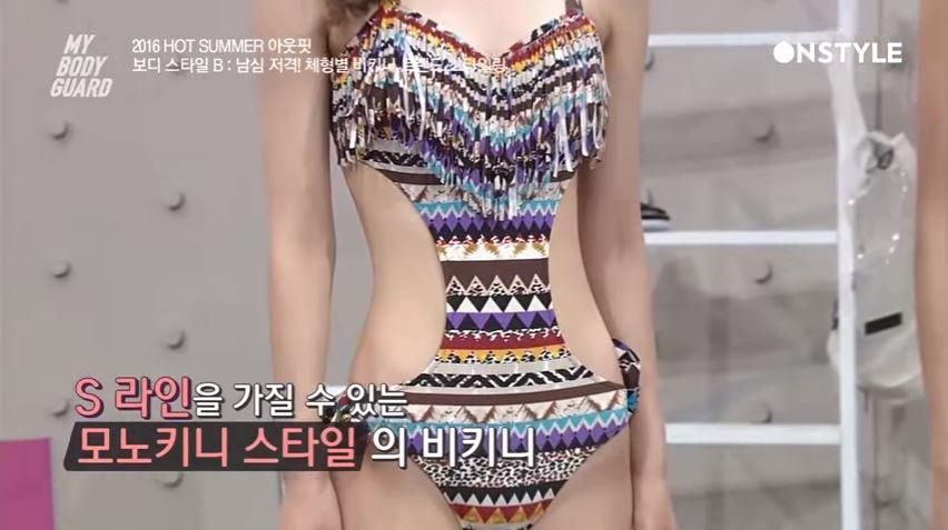► 腰部挖空設計 雖然是連身式泳衣,但腰部的挖空設計也是超性感!對腰部線條沒自信的女生可以選擇這種款式增加腰部曲線,製造S Line的效果