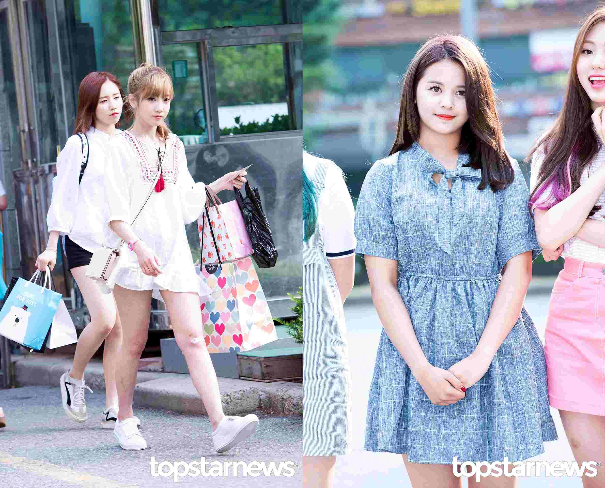 Style①繫帶洋裝 洋裝絕對是最簡單又最少女風的單品,女孩們的衣櫃裡一定有好幾件吧?不過今天夏天韓國尤其流行脖子處繫帶款的,智愛是細帶加流蘇,Sorn則是繫成了可愛的蝴蝶結。