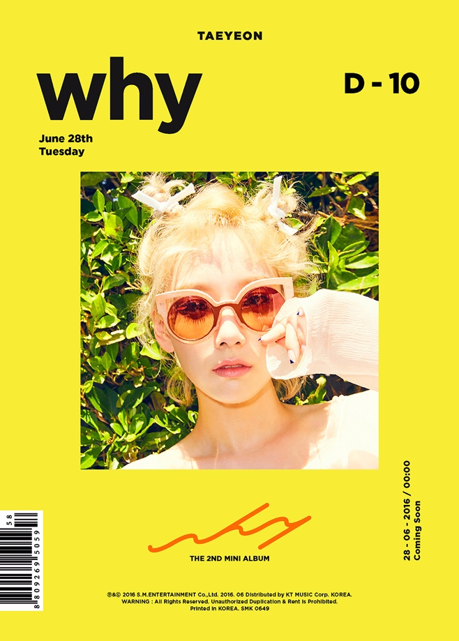 將比Sistar晚一周,太妍帶著第二張迷你專輯《Why》回歸,相隔前一張才8個多月,而且也是第一次在夏季發片~