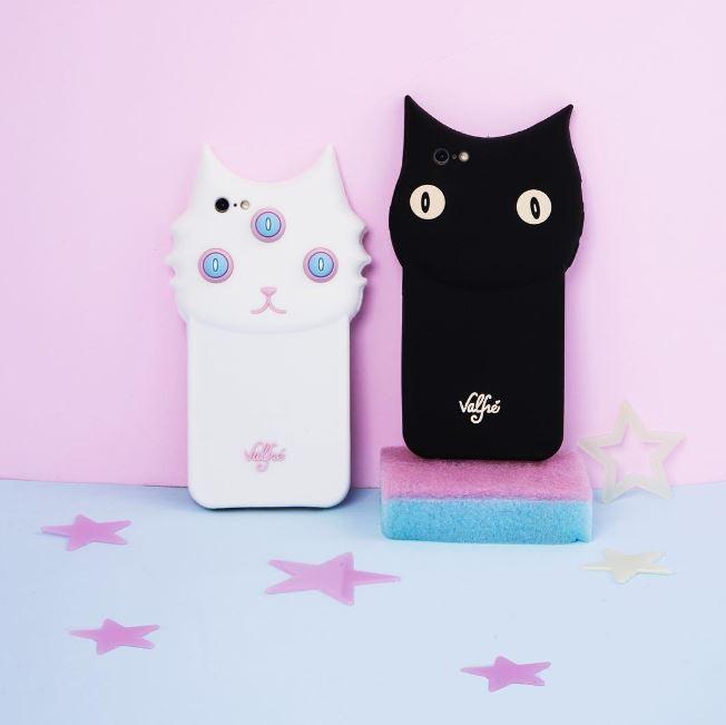 這兩個貓咪的手機殼應該算是valfre最紅的款式,很適合喜歡古怪、逗趣風格的女生