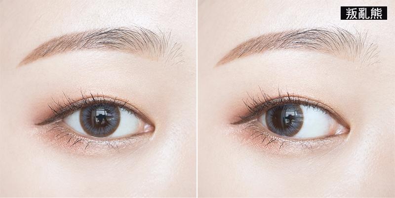 體驗後有感 ★★★★★ 完全滿意XD..輪廓讓眼睛更明亮,但或許因為是棕色外廓的原因,非常的自然,非常適合日常妝佩戴!!