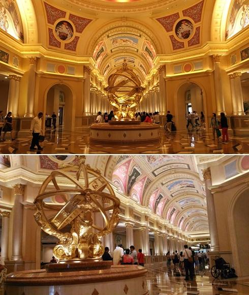 接著到了室內~光這個大廳就讓飽兒驚嘆好幾分鐘,真的美得太誇張啦!不愧是Casino林立的澳門,就是要這種貴氣逼人的金色才有氣勢啦!