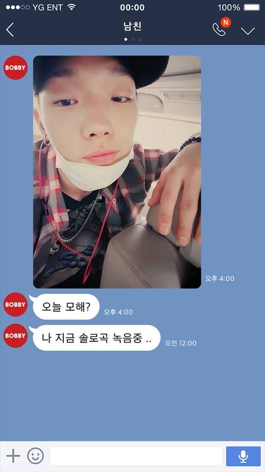 上個月YG才發出預告,告訴大家Bobby正在為自己的solo曲錄音中~