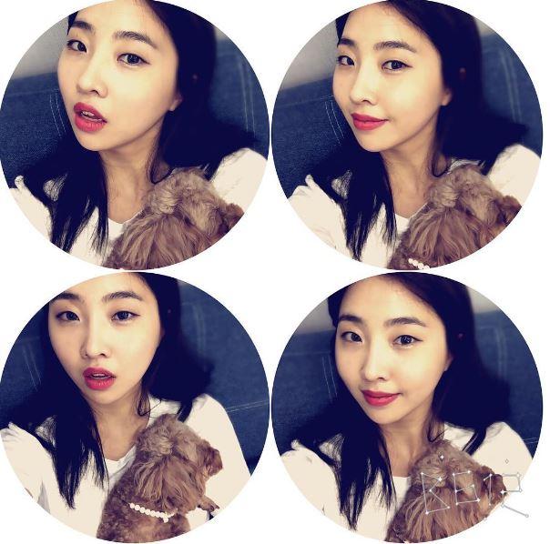 然而有不少韓國網友發現~最近Minzy越來越漂亮,妝感也比以前柔合了很多!