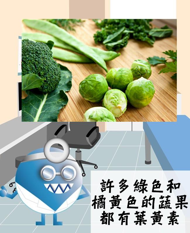 像是菠菜、綠花椰菜、玉米、南瓜等等,蛋黃也有不少的葉黃素!