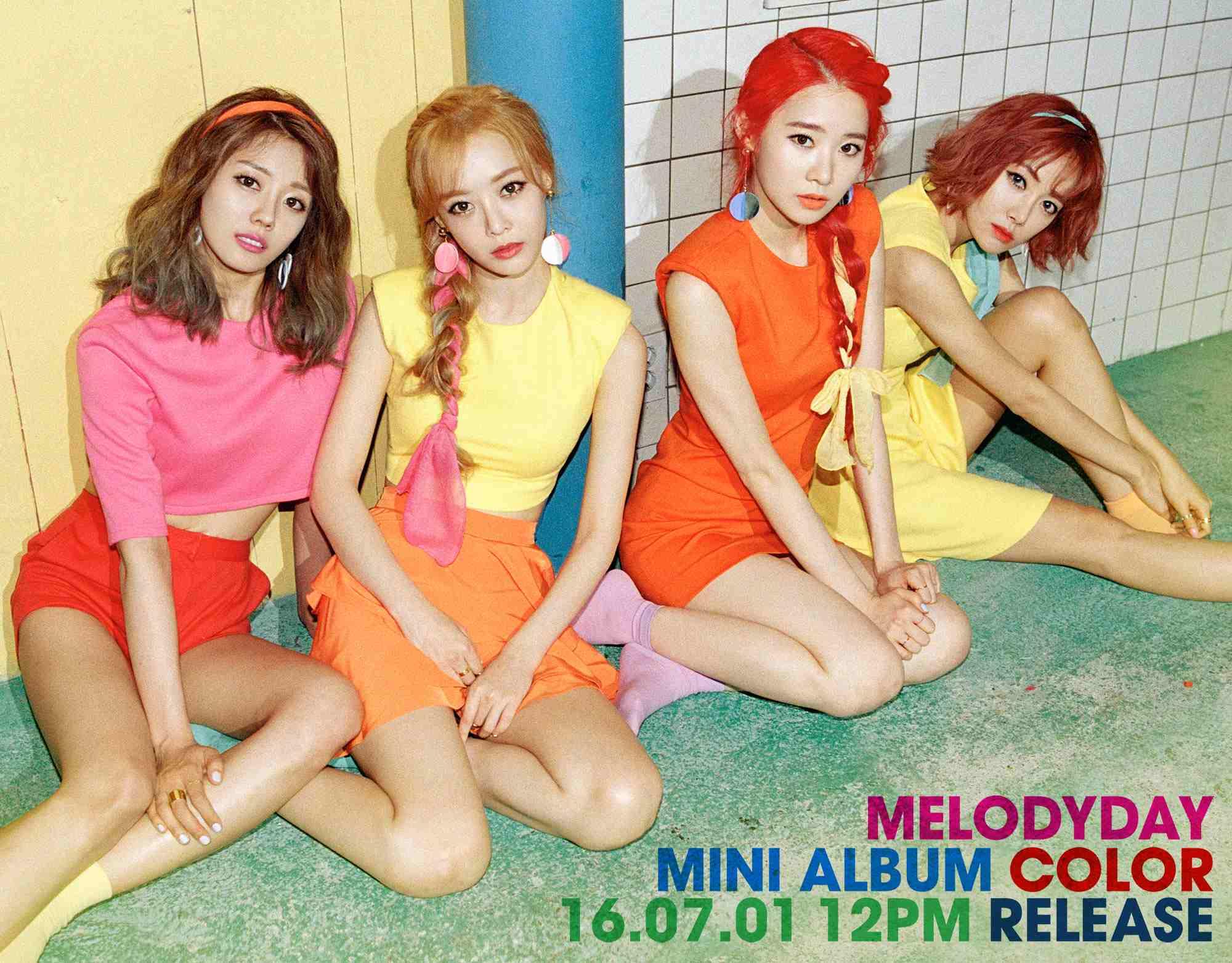 然而Melody Day這次改頭換面(?)換成比較符合他們年紀的繽紛色彩路線,即將在7月1日發行新專輯啦(撒花)