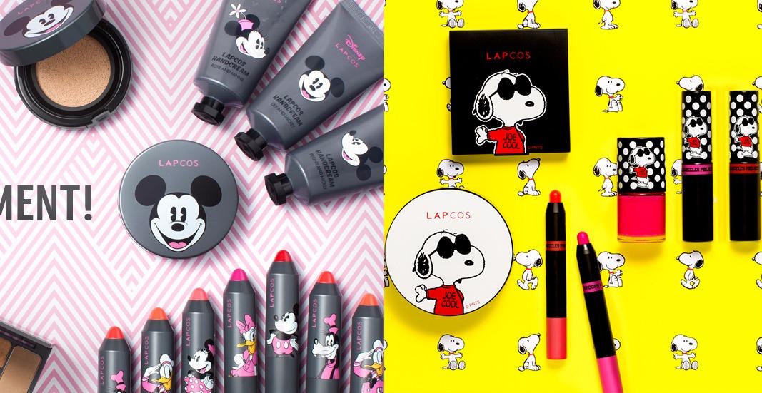 除了跟SMILEY聯名外,LAPCOS還跟DISNEY和SNOOPY聯名推出過米奇系列和史努比系列。喜歡卡通風格的女孩可以關注下LAPCOS這個新晉的彩妝品牌。