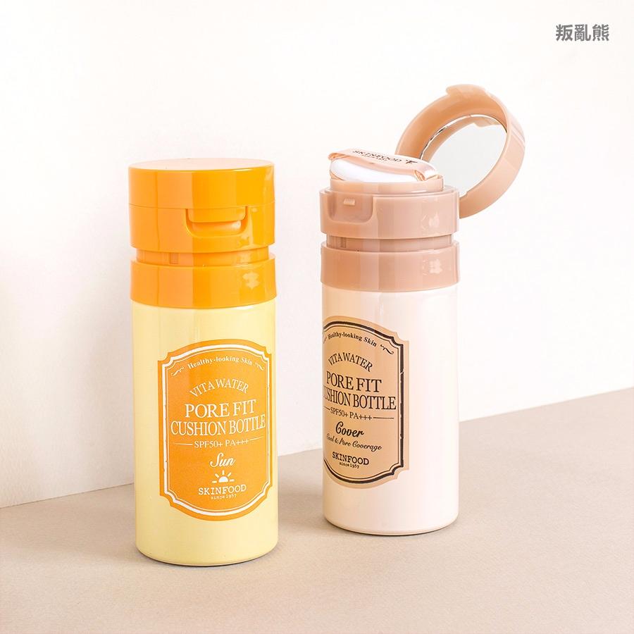 ▷ SKINFOOD /  Pore Fit Cushion Bottle Sun (KRW 23,000)  Pore Fit Cushion Bottle Cover (KRW 25,000)
