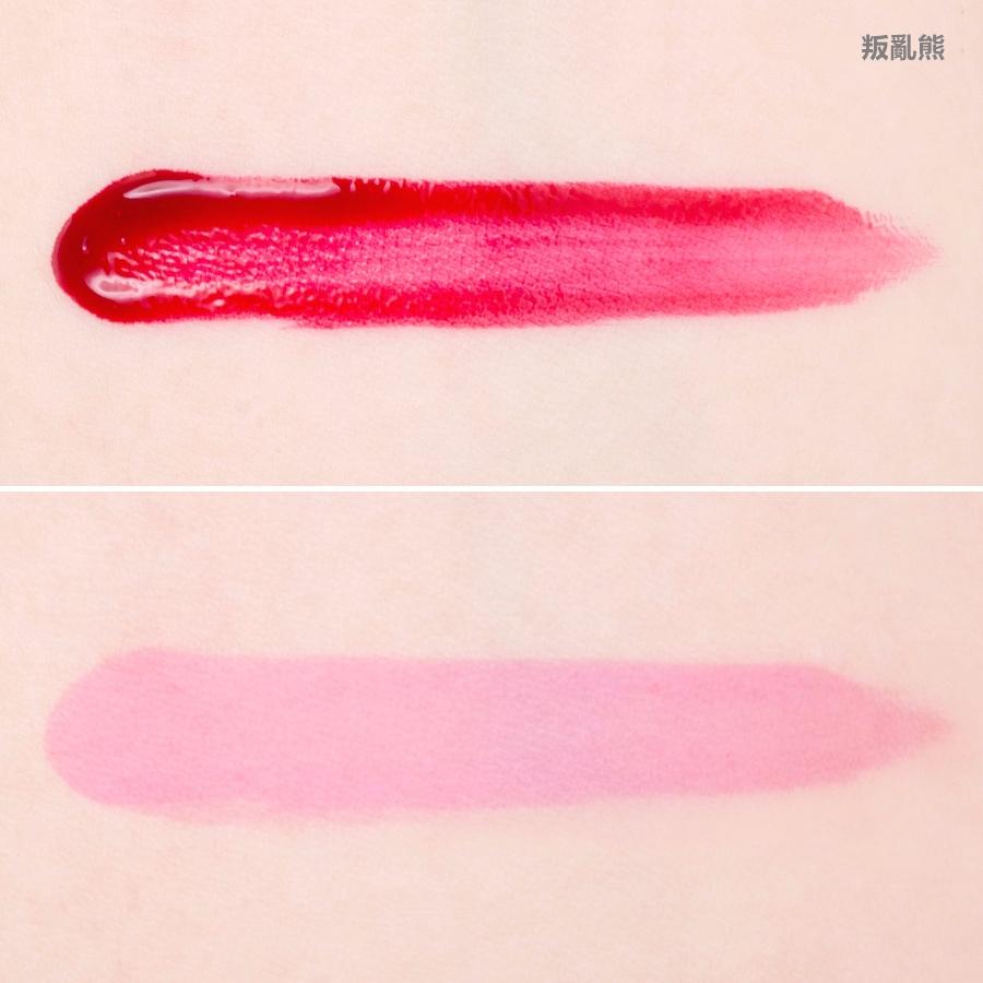 對於不喜歡一直補唇妝的美妞來說,這種水水的唇露的顯色度和持久度都會比口紅還好,只是比較容易乾,卸妝的時候也要花比較多的心思