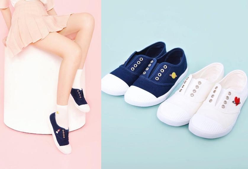 懶人帆布鞋❤搭配該品牌的彩色棉襪