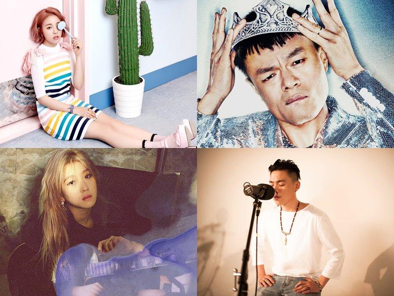 JYP家則是派出白娥娟與白藝潾,連朴軫永跟G.Soul也都默默發了單曲專輯~