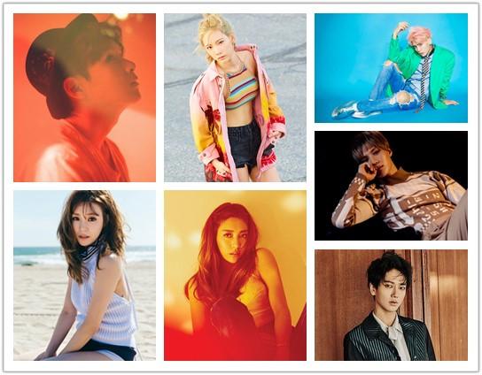 SM家則是最多產~不算SM STATION的話,發行專輯的solo歌手已經至少7人~厲旭、藝聲、泰民、鐘鉉、Luna、Tiffany和太妍等,發片效率好高啊~