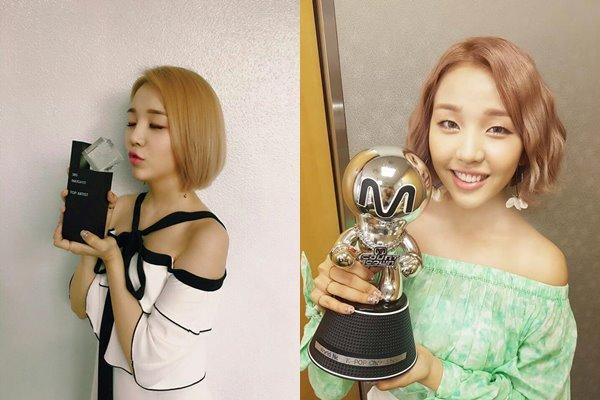 JYP的solo女聲白娥娟逆勢高飛,她在今年推出的首張單曲《so-so》,拿下了3個主要音樂節目的冠軍共3次!成為今年solo歌手中獲獎最多次的~  *3個主要音樂節目有《人氣歌謠》、《Music Bank》、《M!Countdown》