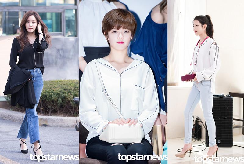 TOP②睡衣 絲綢材質的襯衫雖然很容易被人誤會成睡衣,但涼爽的質地真的非常適合炎熱的夏天啊!邊邊的線條設計也很精緻特別。