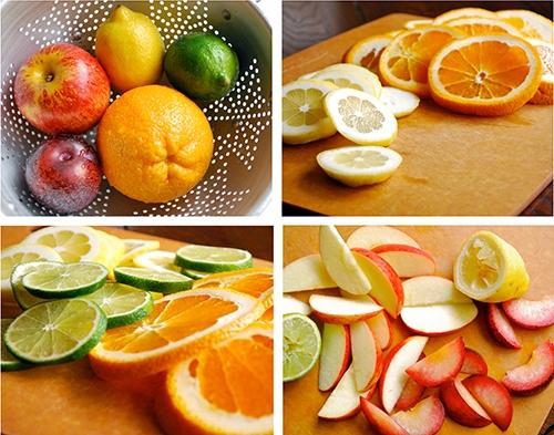 差不多像這樣就可以摟~~~~~ 柑橘類如果怕皮的苦味,也是可以去皮喔! 但飽兒是覺得苦味不大啦