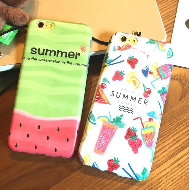 夏天絕對是要應景一下呀,可愛的西瓜和飲料圖案讓人看了都好消暑~