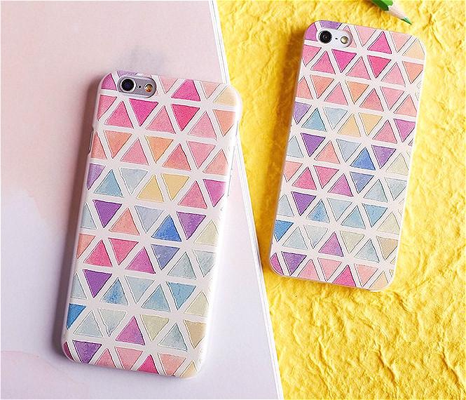 幾何圖案也是經典不敗款 ! 粉嫩色調但又不會太搶眼小編很推薦唷